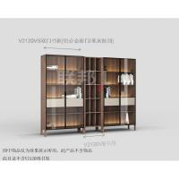 V2120VB双门书柜[铝合金柜门/米灰抽面]